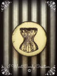 HANDMADE Gothic Victorian corset - Magnet
