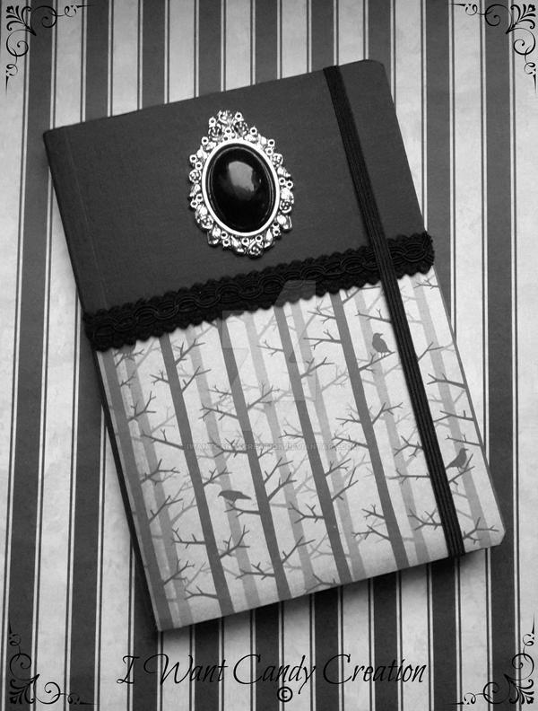 HANDMADE - Dark Raven Note Book by IWantCandyCreation