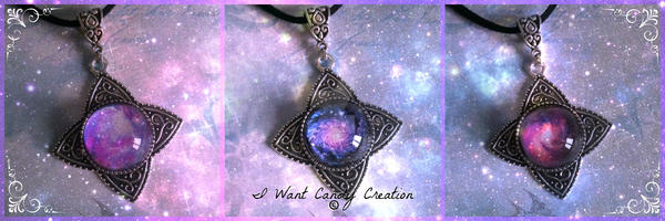 HANDMADE - Galaxy Necklaces by IWantCandyCreation