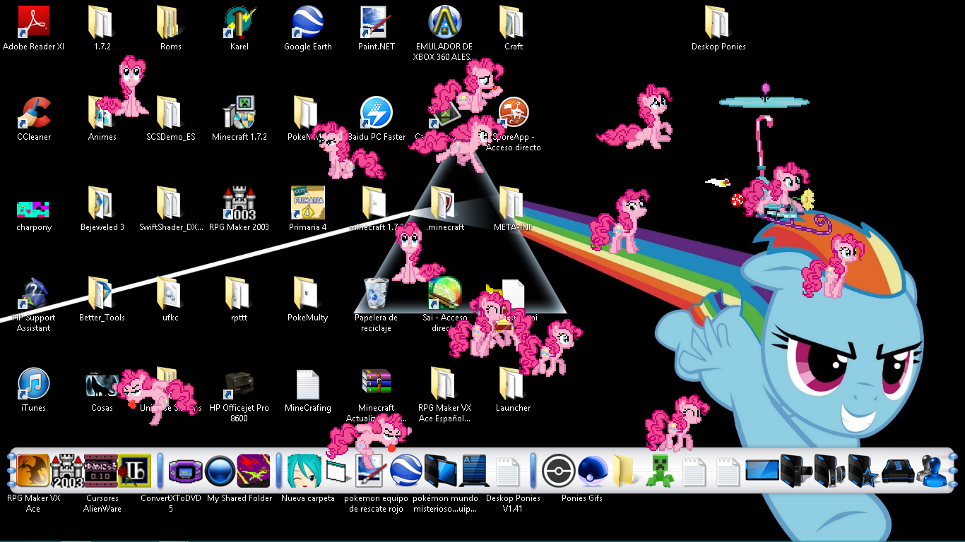 Desktop Ponies v1.41: Party Pinkie Pie by Dyahna