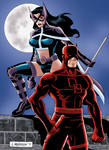 Daredevil and Huntress Final by wardogs101