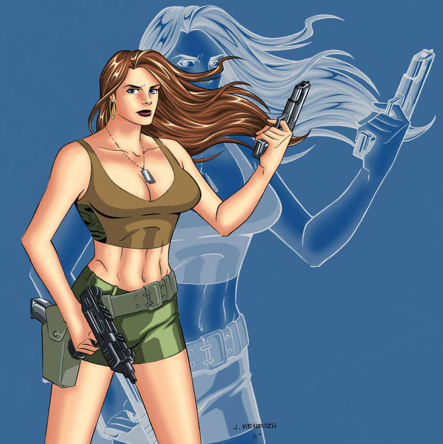 Hot Chick and Her Guns by