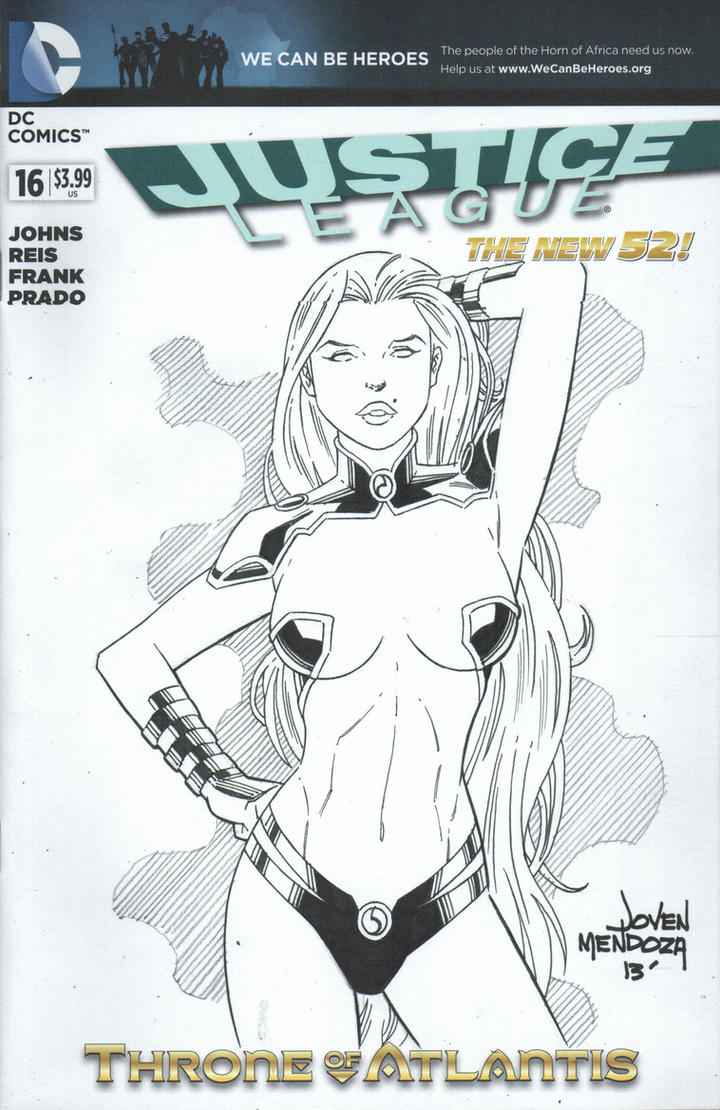 Starfire Sketch for Khan by wardogs101