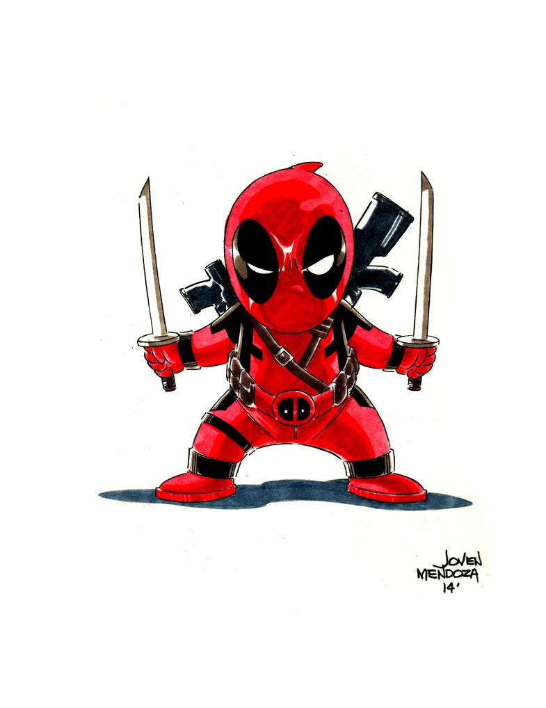 Chibi Deadpool by ward...