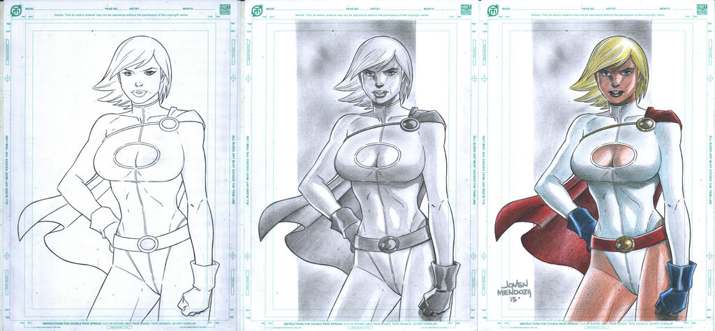 Power Girl Commish Process by wardogs101