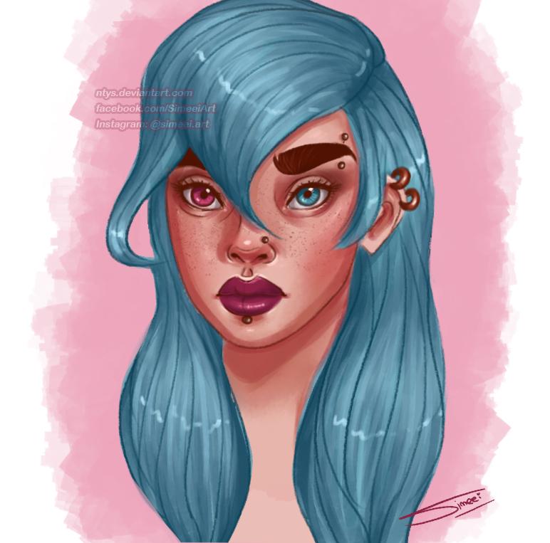 Blue hair by NtyS