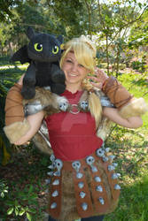 Astrid and Toothless
