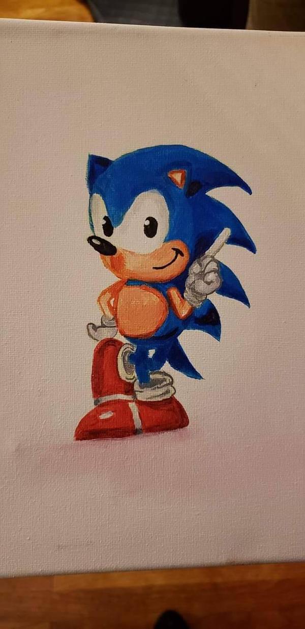 Sonic in Acrylic  by Oechslein