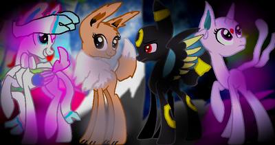 Eeveelutions as ponies by Gamergirl6456