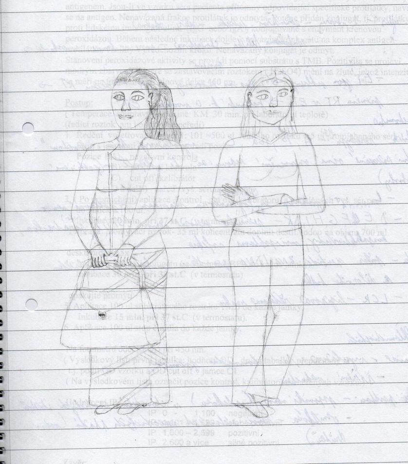 Najimi sisters sketch by Avelion-chan