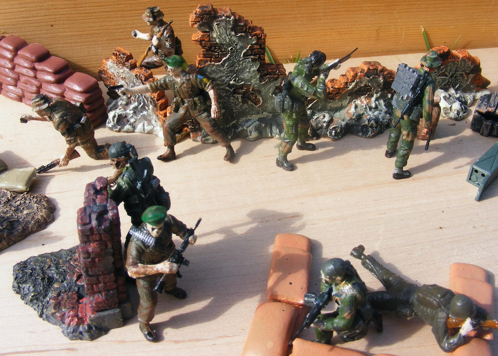 South Vietnam battle by Were-Owl