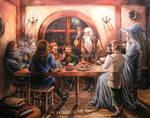 Dwarves at Bilbo's house