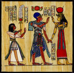 Ramses III his son and Isis