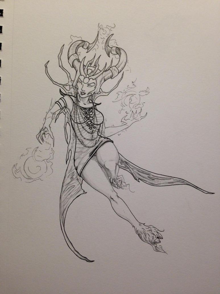 Infernal Syndra- Sketchbook by Telelia