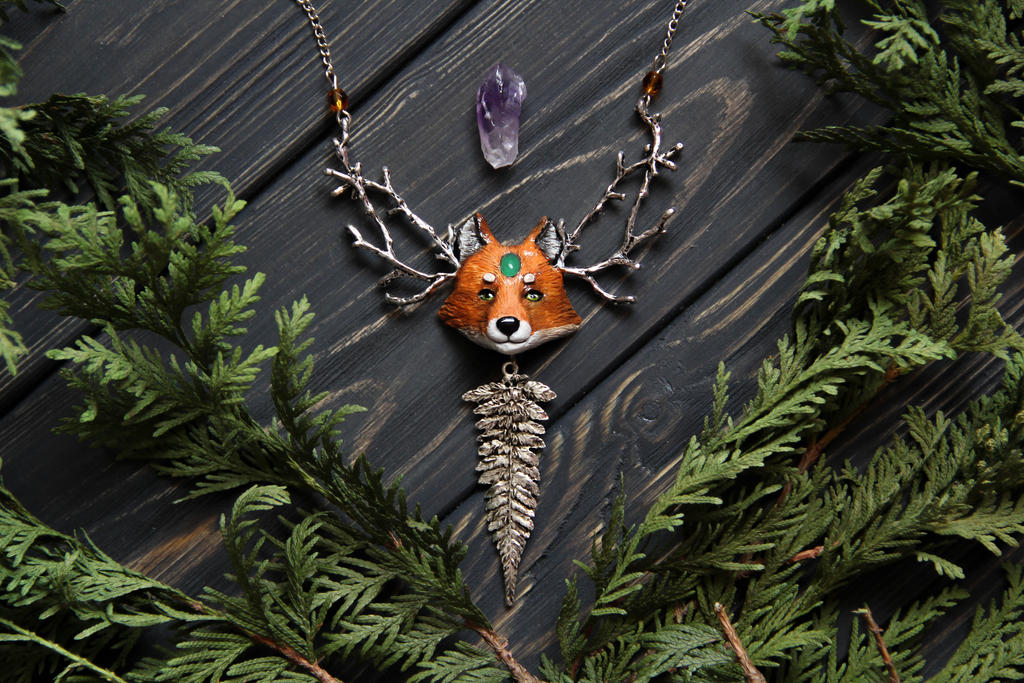 Fox Necklace by Lavenderwitch