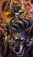Link and Midna by Aeonrin