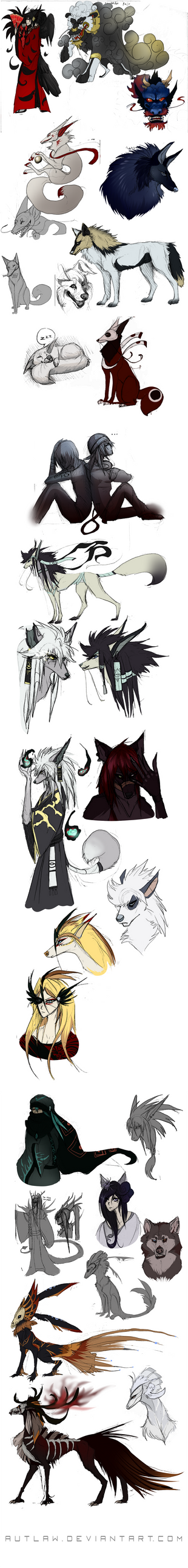 Varied sketches by Autlaw