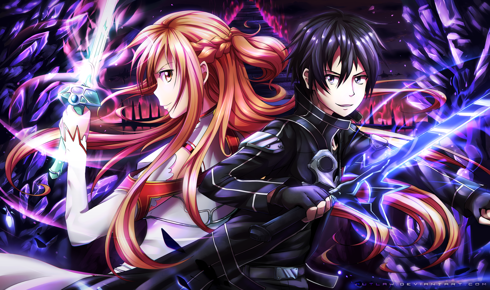 Kirito And Asuna By Autlaw