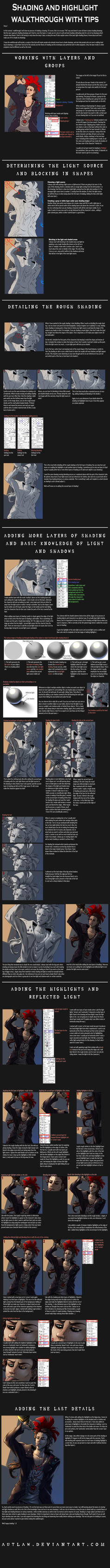 Shading tutorial and tips by Autlaw