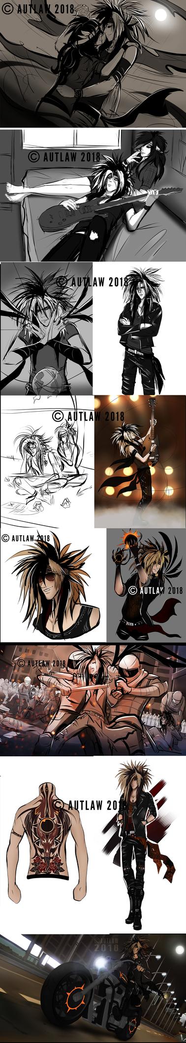 Shinri sketchdump and W.I.P. by Autlaw