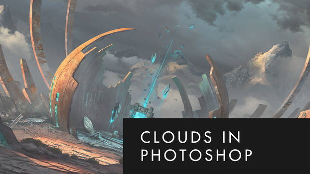 Photobash clouds in Photoshop (video)