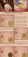 Gold Coin Tutorial by SaisonRomantique