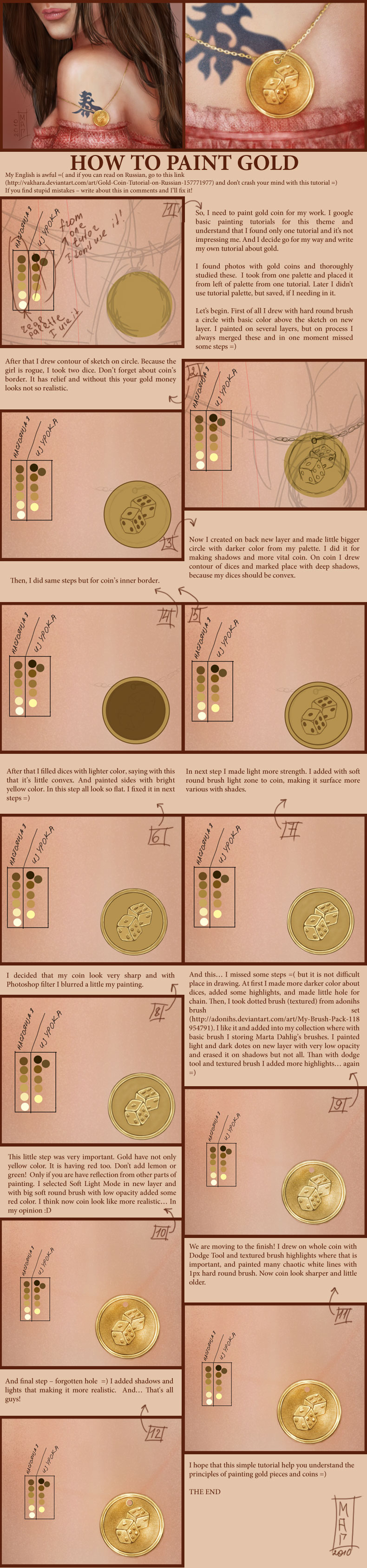 Gold Coin Tutorial by Vakhara