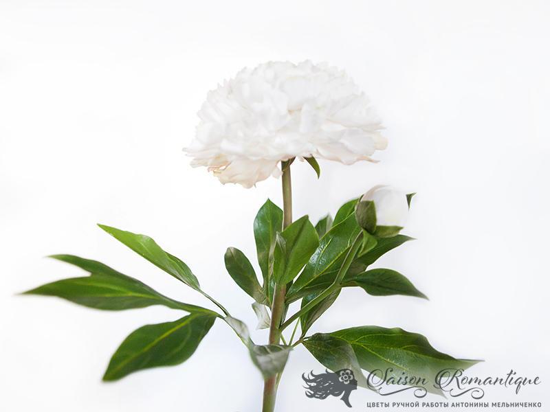 White Peony - Polymer Clay Flowers