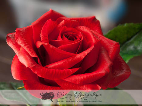 Red Rose - Polymer Clay Flowers - Part 1