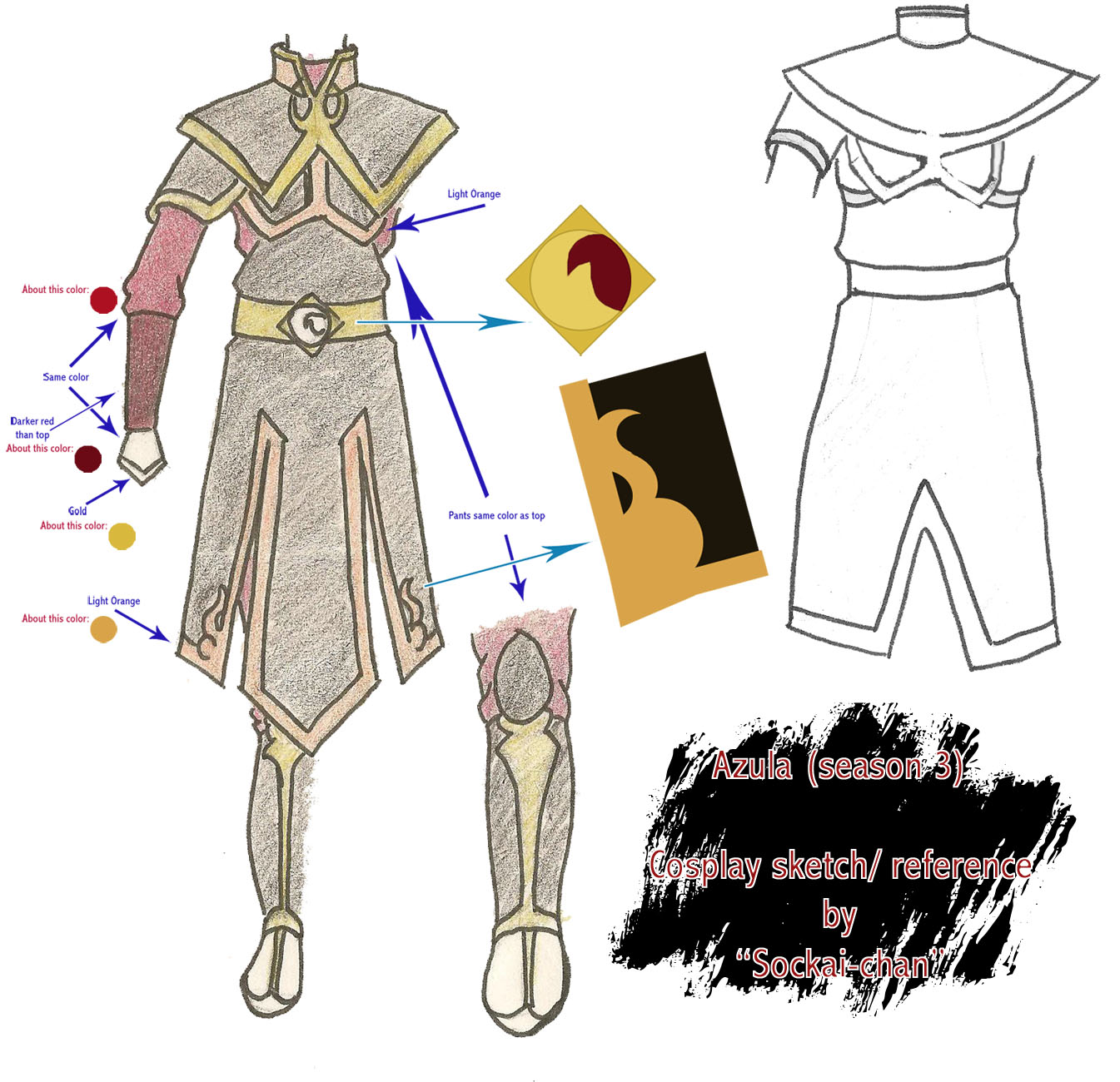 Azula season 3 outfit sketch by sockaichan on DeviantArt