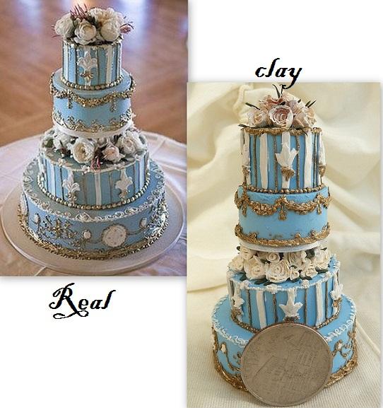 Tiny Blue French Wedding Cake By Rachelslittlethings