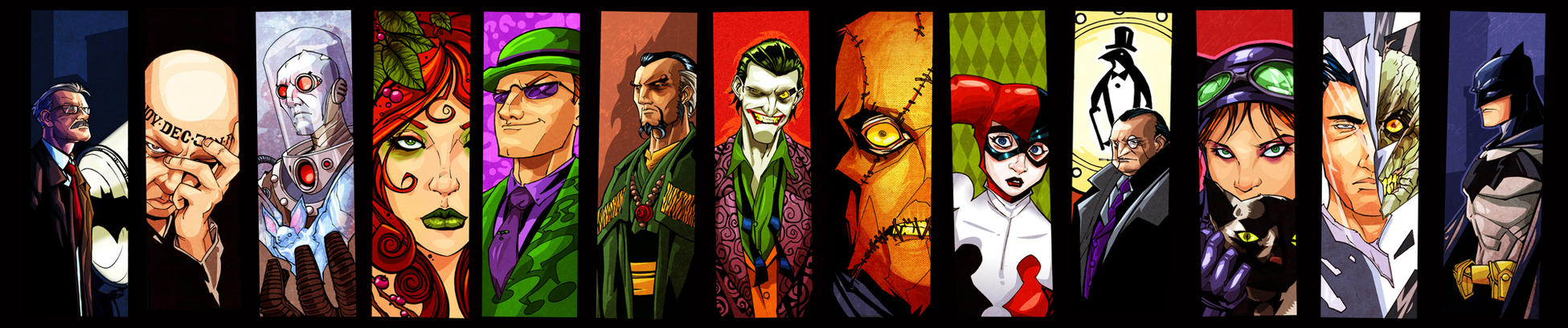 Gotham Icons: Complete set. by Joey-Zero