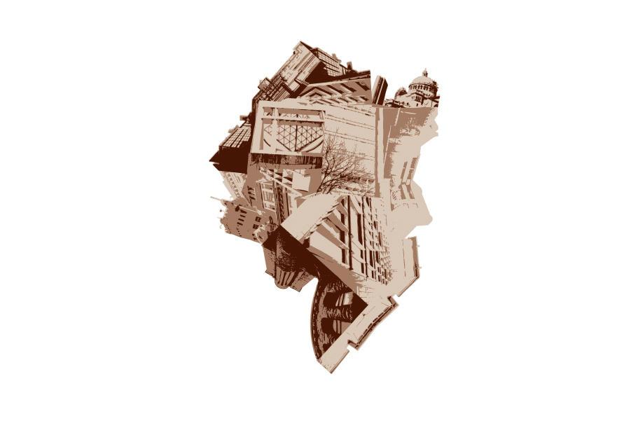 Escher-esque Metropolis by Joey-Zero