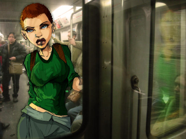 Grace on the Subway by Joey-Zero