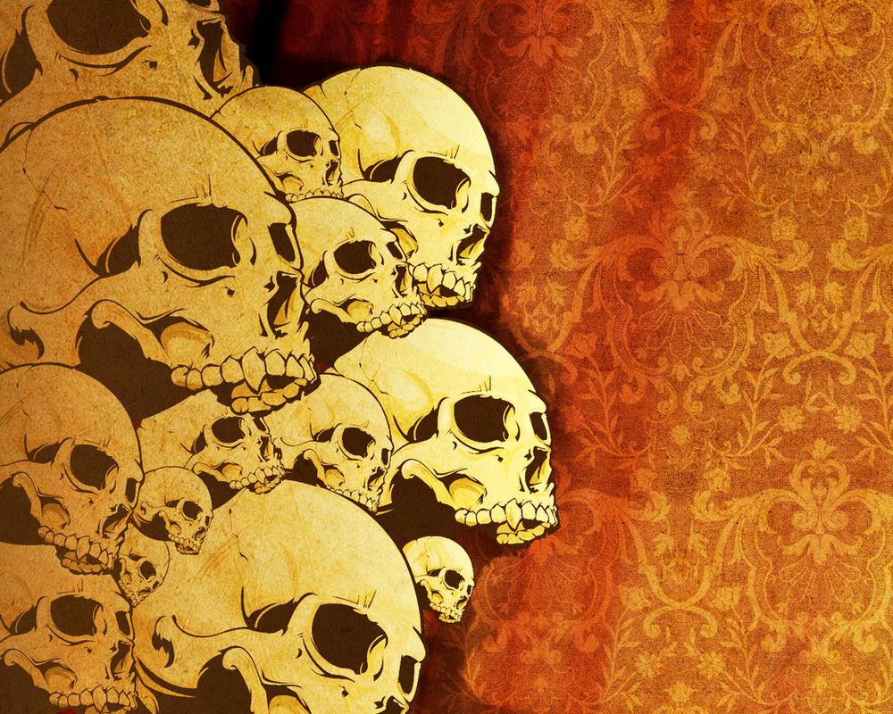 Skull Desktop 1 by Joey-Zero