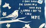 Cyanotype bird.