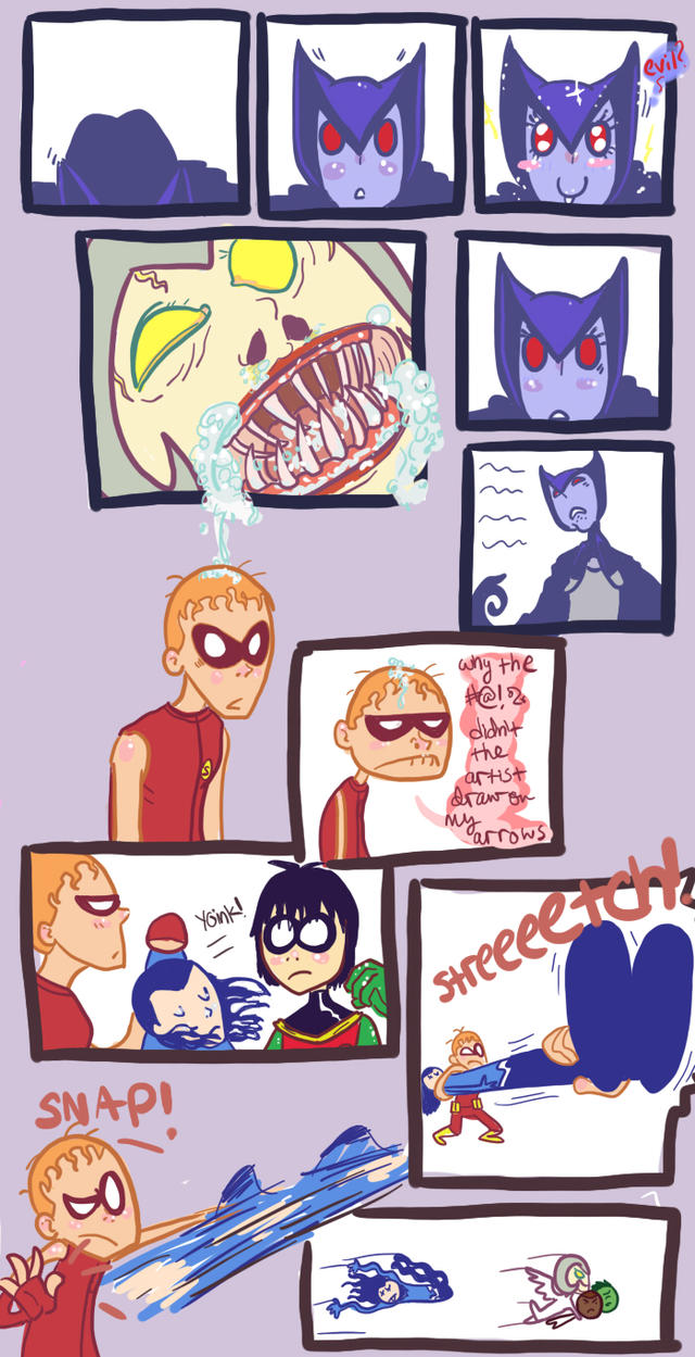teen titans comic rp 5 by noisystar Submitted: September 9, 2009. Image Size: 757 KB Resolution: 699×1365