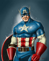 Captain America colors by Digital-Paladin