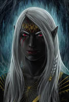 The priestess of Lolth by Angevere