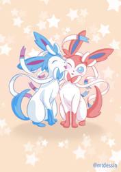 Pokemon sylveon nymphia nymphali fanart shiny love