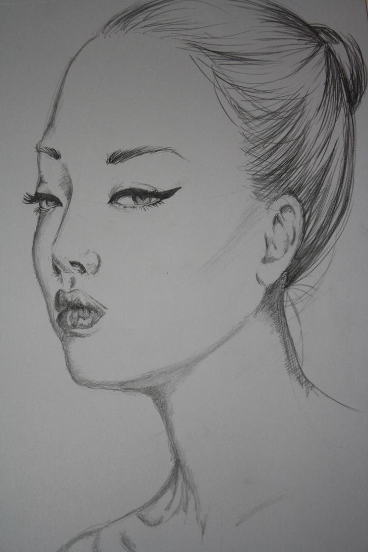 Korean Girl Sketch By Eirenh On DeviantArt