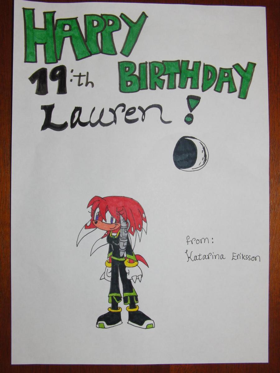 Lauren's Birthday gift by KatarinaTheCat