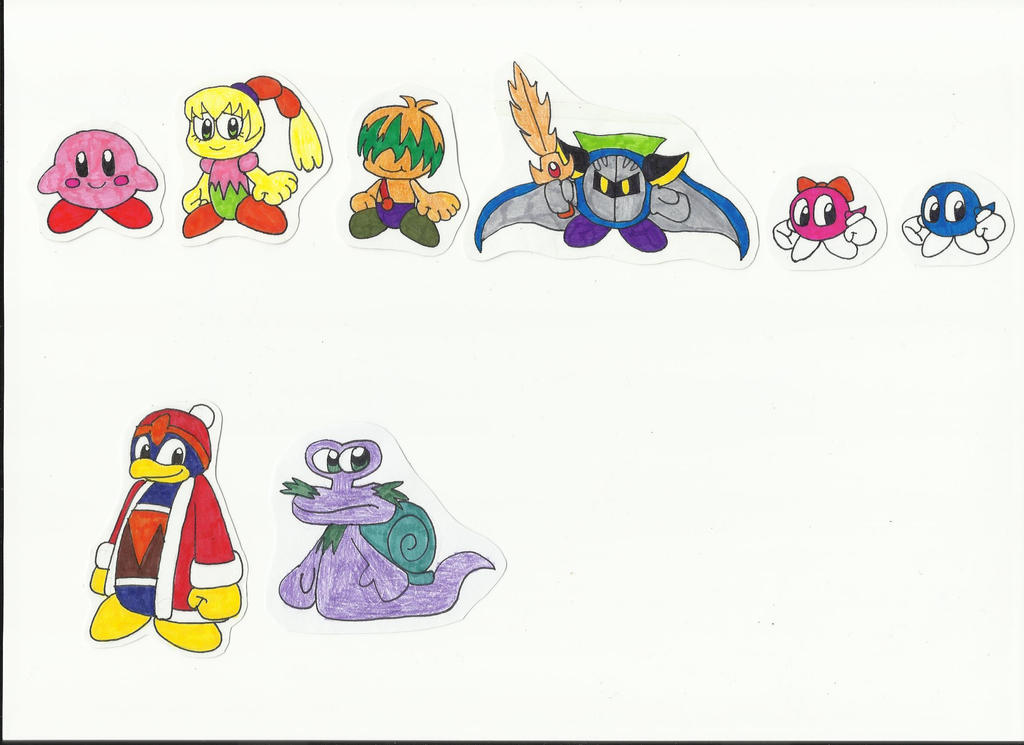 how to draw kirby characters