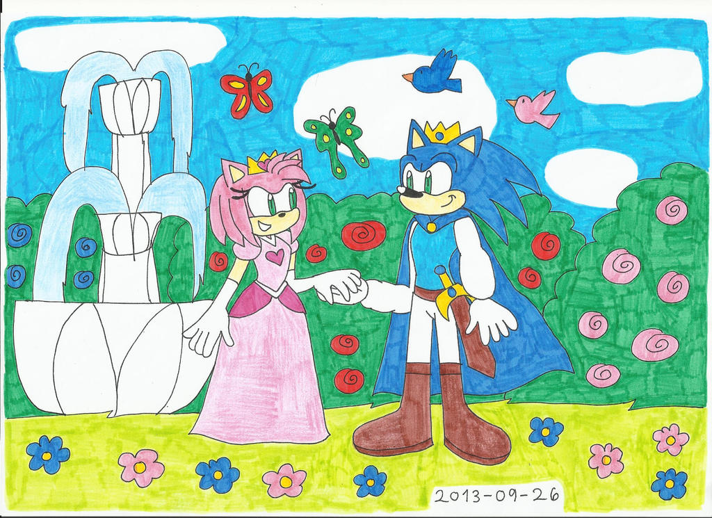 Prince Sonic X Princess Amy Rose by KatarinaTheCat