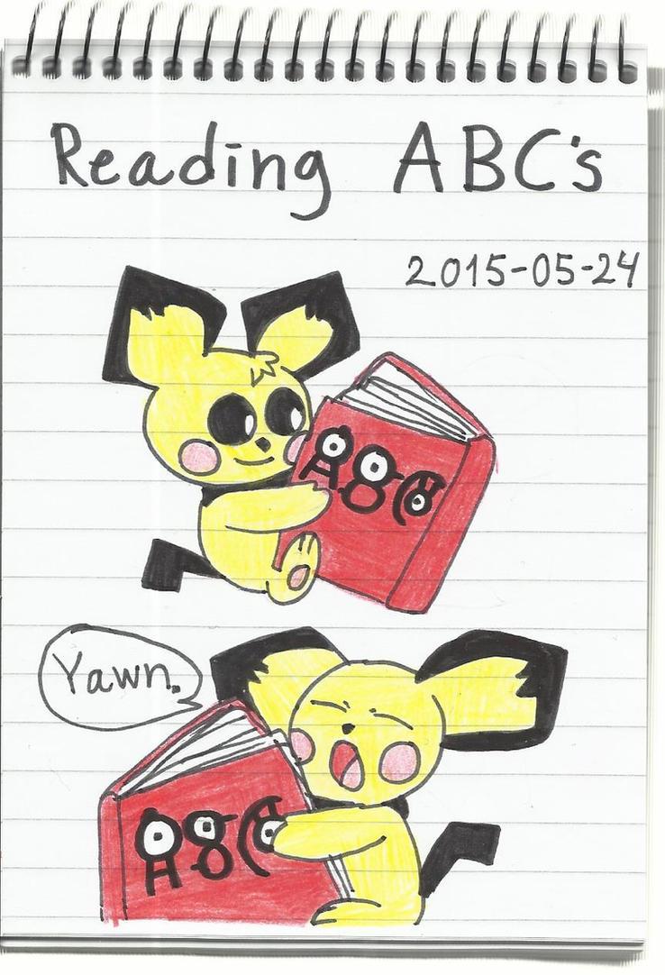 Reading ABCs by KatarinaTheCat
