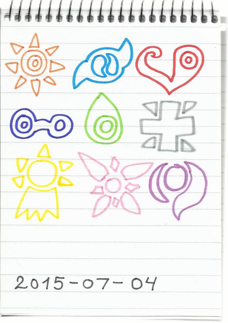 Digimon crests by KatarinaTheCat