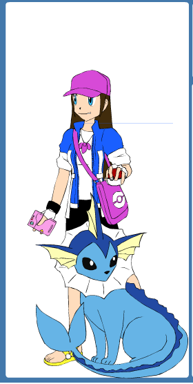 Pokemon Trainer me with Vaporeon by KatarinaTheCat