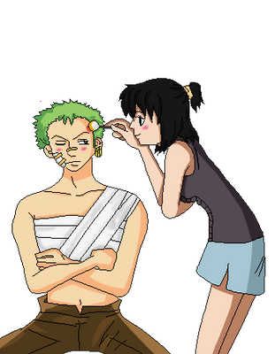 ..:Heba And Zoro .:. let me help you by Heba-Asawa