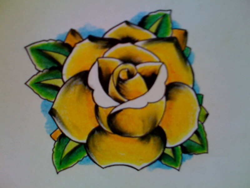Yellow rose by Kirzten on DeviantArt