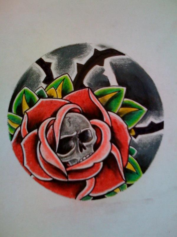 Rose + Skull by Kirzten